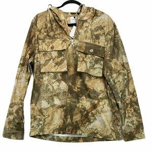 Top Man Overshirt Fit Half Zip Hoodie New